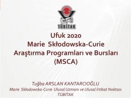 Ufuk 2020 Marie Skłodowska-Curie Araştırma Programları ve