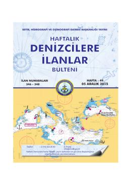 Aralık 2015 - Seyir Hidrografi ve Oşinografi Dairesi Başkanlığı