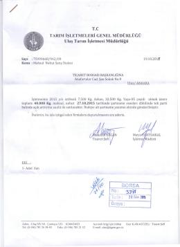 Detaylı İhale Bilgileri - Ankara Ticaret Borsası