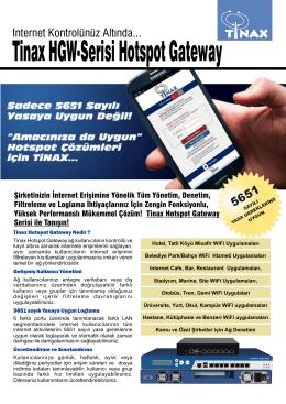 Tinax HGW-Serisi Hotspot Gateway