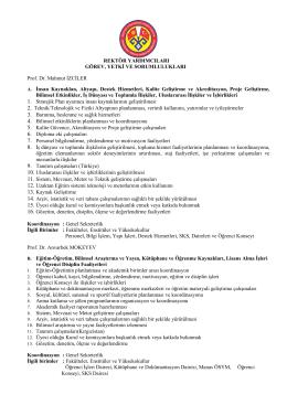 Rektör Yrd - Kırgızistan Türkiye Manas Üniversitesi