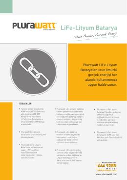 LiFe-Lityum Batarya