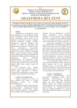 Anadolu Karaçamı Ulusal Islah Zonlamasının Orijin Performansı ve
