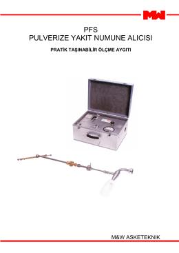 pfs pulverıze yakıt numune alıcısı