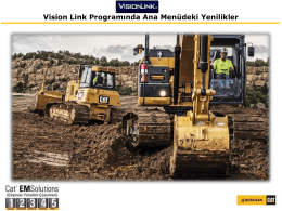 15 Eylül 2015 - Vision Link Programında Ana Menüdeki Yenilikler