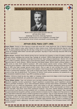 Arthur Cecil Pigou - CU Department of Economics