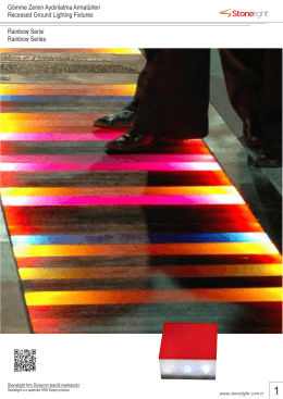 Rainbow Serisi Rainbow Series Gömme Zemin Aydınlatma