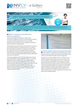 e-bülten - INVEX Değerleme Şirketi Uygulaması