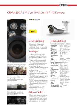 ra CR-AH3507 2 Mp Verifokal Lensli AHD Kamera