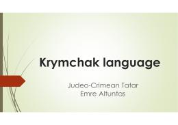 Krymchak language