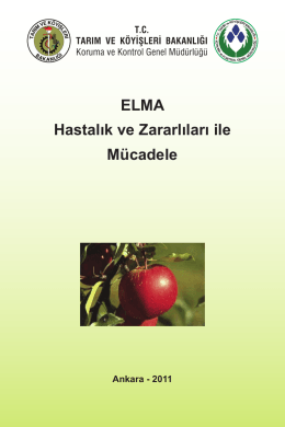 ELMA Hastalık ve Zararlıları ile Mücadele