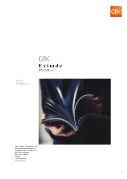 GfK Tüketici Paneli E- Bülten 2015 Ekim sayısı için tıklayınız