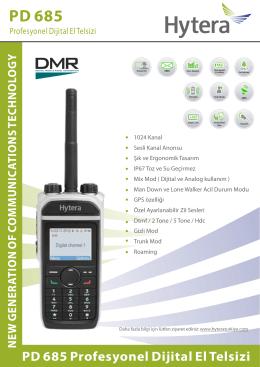 PD 685 Profesyonel Dijital El Telsizi