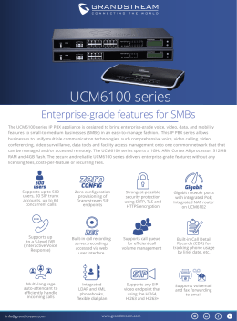 UCM6100 series Datasheet - English