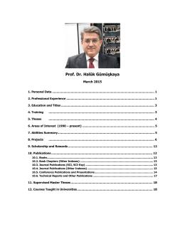 Prof. Dr. Halûk Gümüşkaya