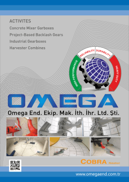 Omega End. Ekip. Mak. İth. İhr. Ltd. Şti.