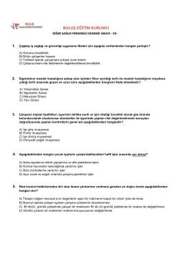 TEST-12 - Buluş İş Sağlığı ve Güvenliği Antalya