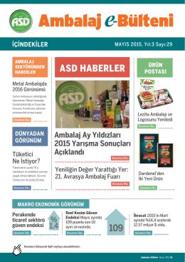 ASD HABERLER - Ambalaj Sanayicileri Derneği