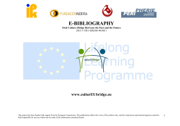 e-bıblıography - culturEUbridge