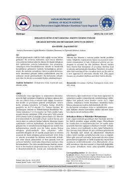 sirkadiyen ritim ve metabolizma: obezite üzerine etkileri
