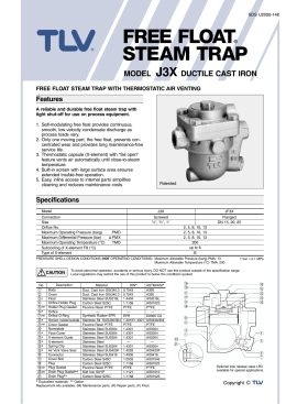 FREE FLOAT® STEAM TRAP - Valves Online Limited