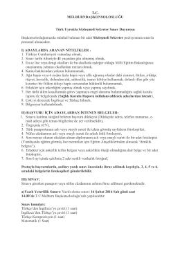 Sınav duyurusu - Melburn Başkonsolosluğu