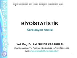 r - Biyoistatistik ve Tıbbi Bilişim Anabilim Dalı