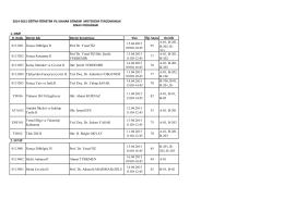 2014-2015 Bahar Dönemi Ders Programý