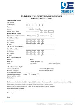 Page 1 İZMİR DOKUZ EYLÜL ÜNİVERSİTESİ MEZUNLARI
