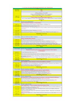 Sempozyum Programı - Ulusal Sulama Sistemleri Sempozyumu
