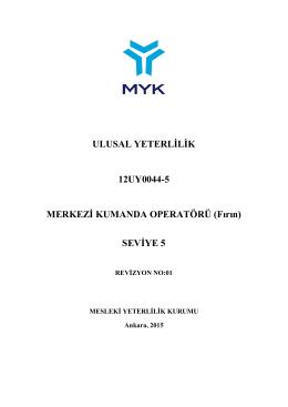 ULUSAL YETERLİLİK 12UY0044-5 MERKEZİ