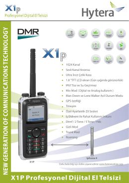 X1P Profesyonel Dijital El Telsizi N EW G EN