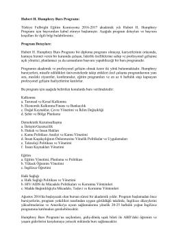 Hubert H. Humphrey Burs Programı: Türkiye Fulbright Eğitim