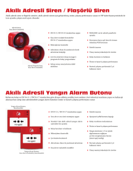 Akıllı Adresli Yangın Alarm Butonu Akıllı Adresli Siren / Flaşörlü Siren