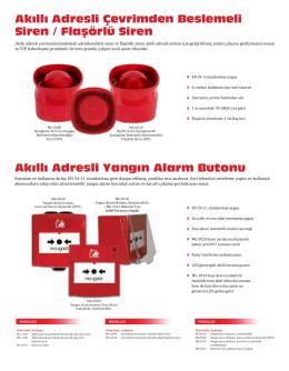 Akıllı Adresli Yangın Alarm Butonu Akıllı Adresli Çevrimden