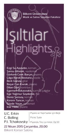 Işıltılar - Bilkent Üniversitesi Müzik ve Sahne Sanatları Fakültesi