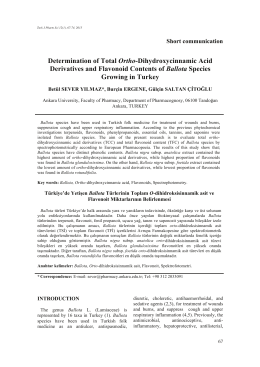 Determination of Total Ortho-Dihydroxycinnamic Acid Derivatives