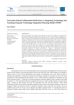 University-School Collaboration Reflections 1