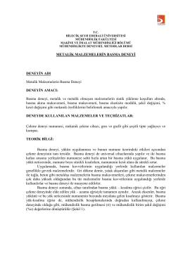 Basma Deneyi - Bilecik Şeyh Edebali Üniversitesi Makine ve İmalat