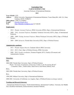 Full CV