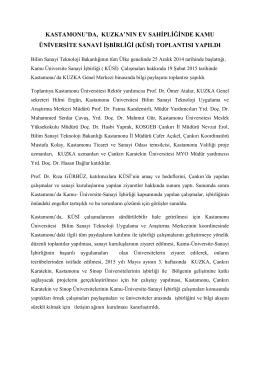 KÜSİ Kastamonu Toplantısı, 19 Şubat 2015 - Kamu