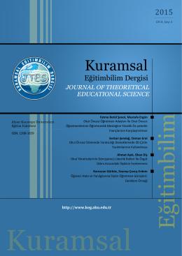 kuramsal eğitimbilim dergisi - Afyon Kocatepe Üniversitesi