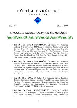 Bulletin 66-June 2015 - Boğaziçi Üniversitesi