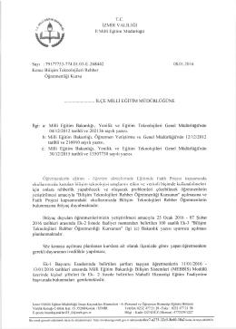 izvin velilici - İzmir İl Milli Eğitim Müdürlüğü