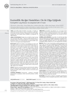 Eozinofilik Akciğer Hastalıkları: On iki Olgu Eşliğinde