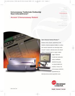 Access® 2 Immunoassay Sistemi