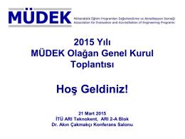 MÜDEK 2015 Genel Kurulu
