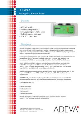 FCGP4A - Gaz Alarm Paneli