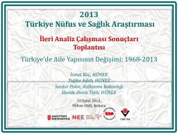 Türkiye`de Aile Yapısının Değişimi