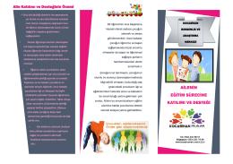 ailenin eğitim sürecine katılımı ve desteği